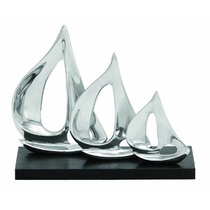 Whitefield Silver Aluminum Three Sail Sculpture