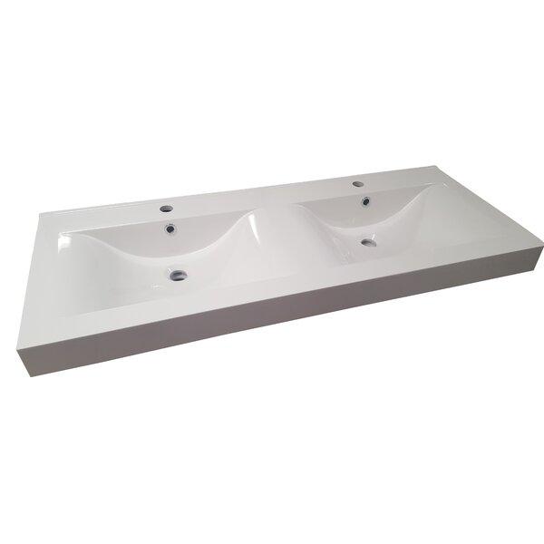 Undermount Bathroom Double Sink mtdvanities belarus double sink basin undermount bathroom sink