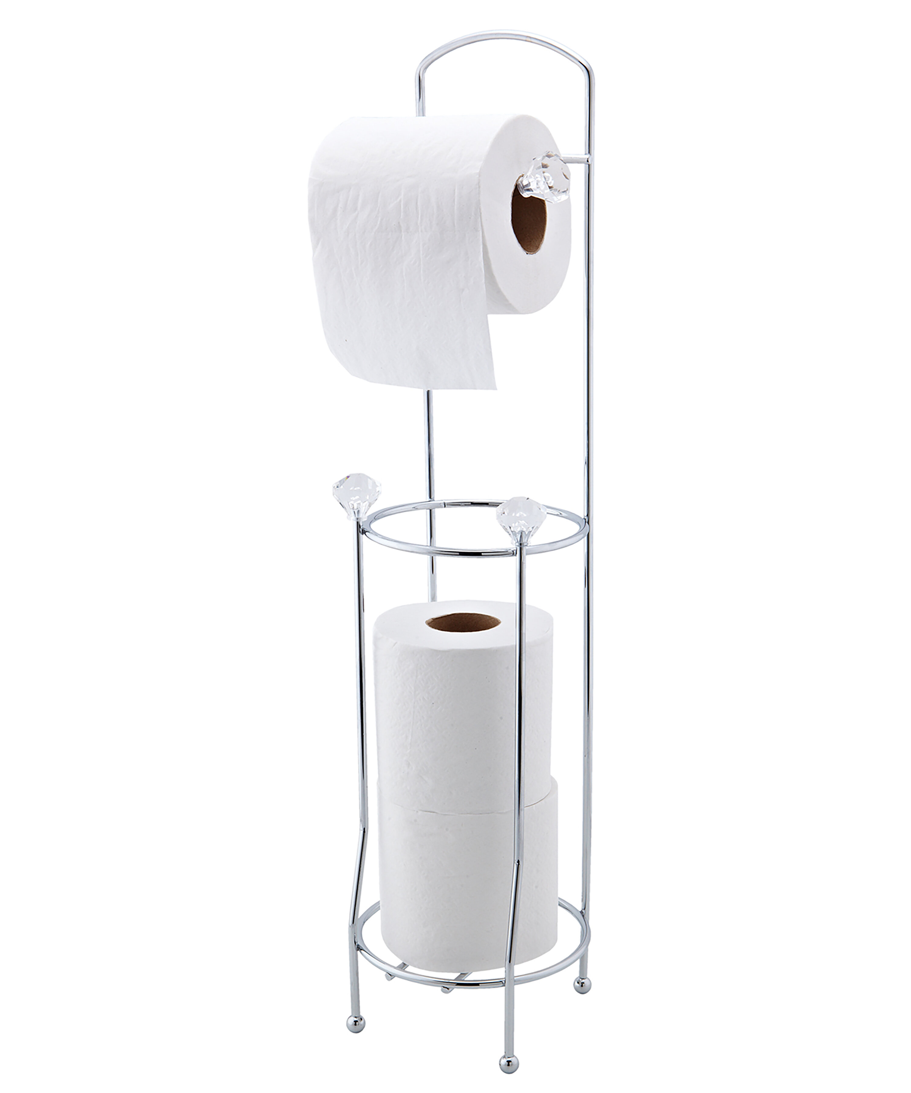 Bath Bliss Crystal Design Free Standing Toilet Paper Holder Reviews Wayfair Ca