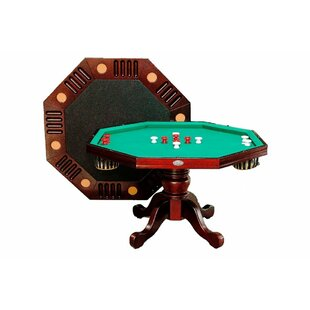 Octagon Bumper Pool Table with Accessories