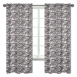 Zebra Window Curtain Panels (Set Of 2)