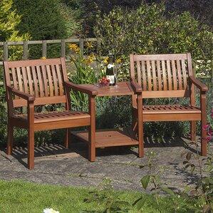 willington 2 seater wooden love seat
