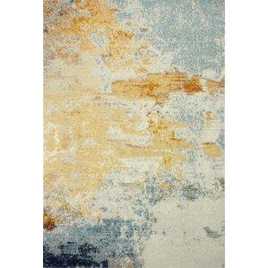 Good Heilman Blue/Yellow/Ivory Area Rug