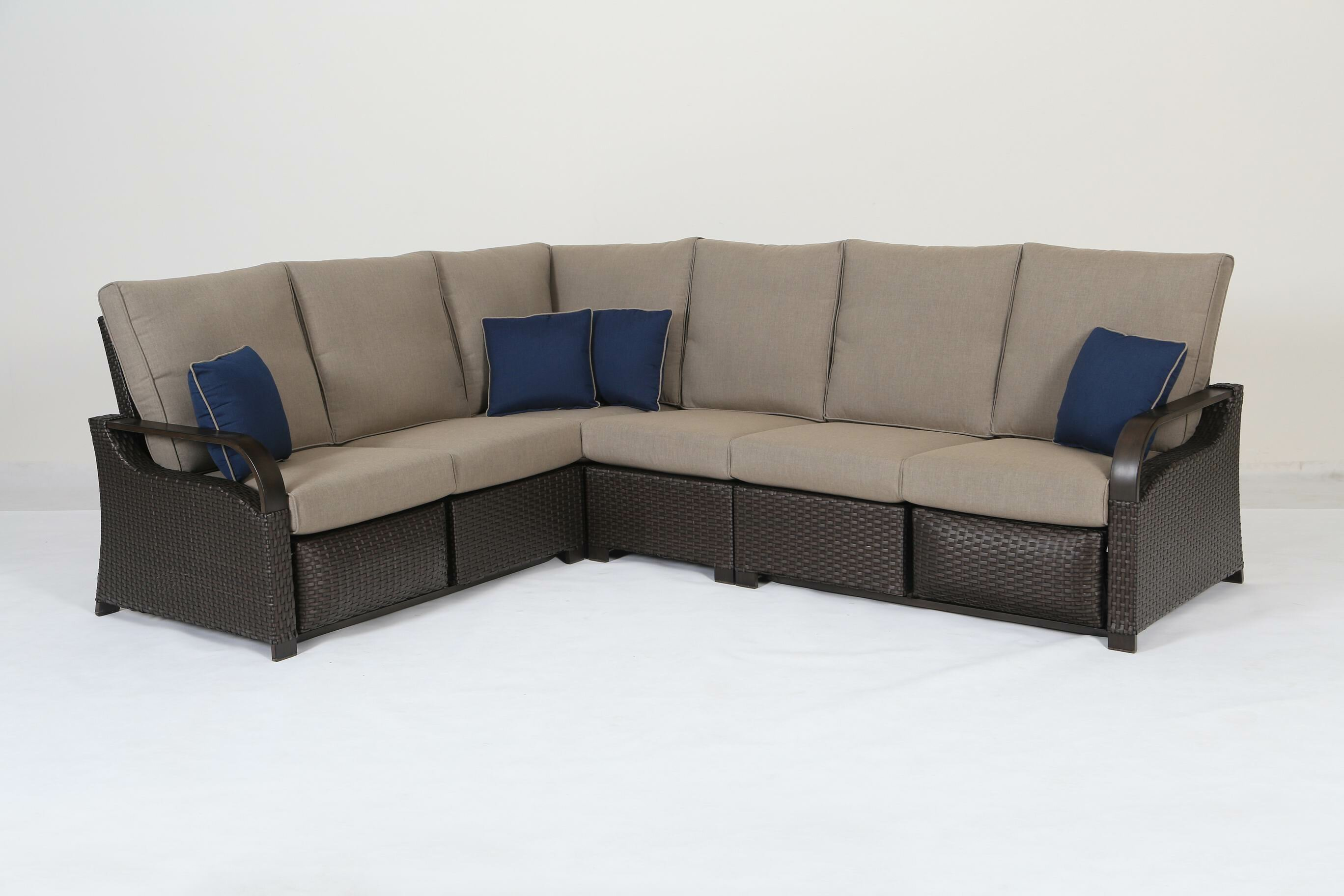 Miner Patio Sectional with Cushions