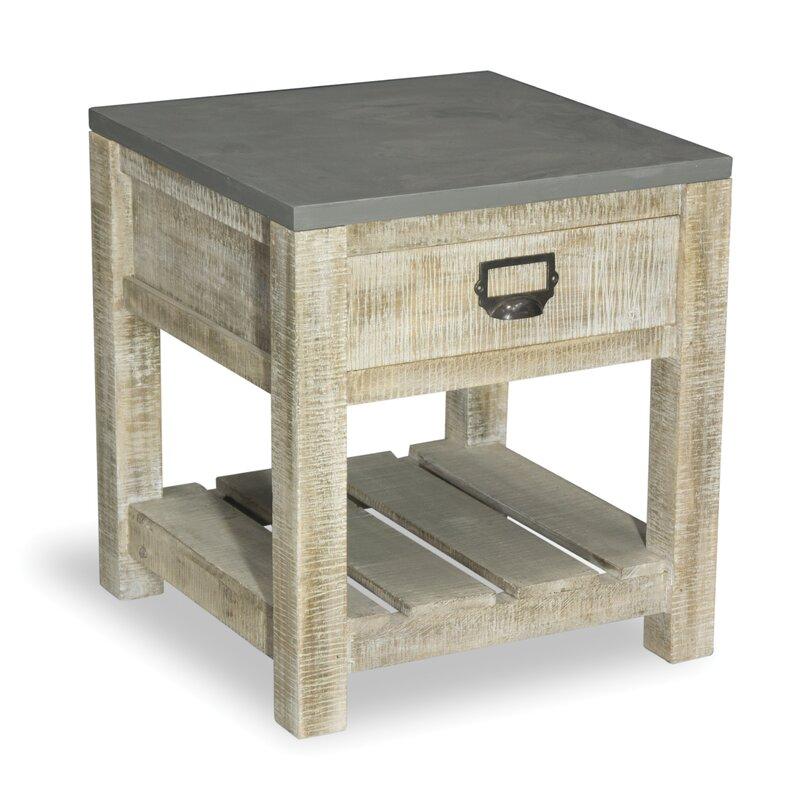 homestead living beistelltisch bergen mit stauraum. Black Bedroom Furniture Sets. Home Design Ideas