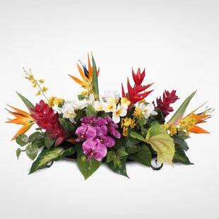 Tropical arrangements wayfair tropical hawaiian paradise silk mixed floral arrangement mightylinksfo
