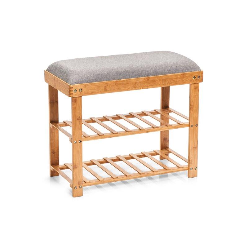 zeller gepolsterte sitzbank aus holz mit stauraum. Black Bedroom Furniture Sets. Home Design Ideas