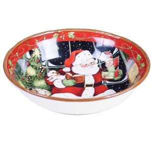 santas workshop serving bowl
