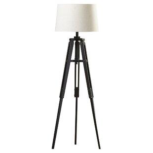 Modern wood floor lamps allmodern alencon 62 tripod floor lamp audiocablefo
