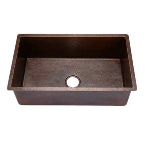 Hahn Copper Large Undermount Single Bowl Kitchen Sink