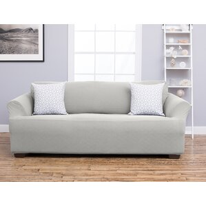 Cambria Box Cushion Sofa Slipcover by Home Fashion Designs