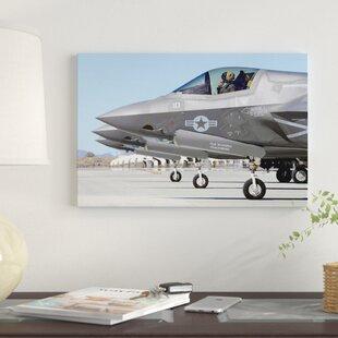 Three F 35b Lightning Iis At Marine Corps Air Station Yuma Arizona Photographic Print On Canvas