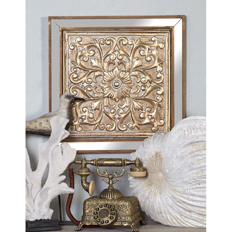 4340e0e226 3 Piece Metal Mirror Plaque Wall Décor Set & Reviews   Joss & Main
