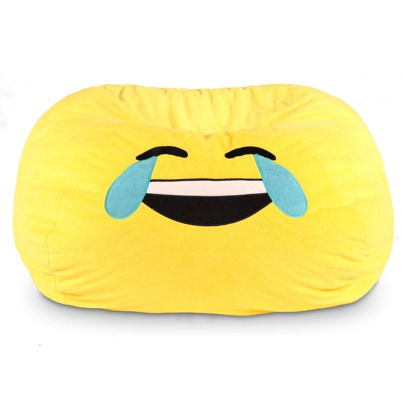 GoMoji Emoji Tears Of Joy Bean Bag Chair