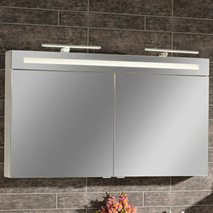 B.Clever 120 x 71cm Mirrored Wall Mounted Cabinet by Fackelmann
