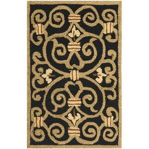 Black And Tan Area Rugs black rugs | joss & main