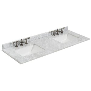 Grazia 61 Double Bathroom Vanity Top