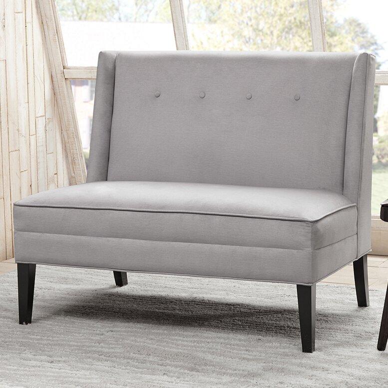 langley street rathcoole button tufted high back settee reviews wayfair. Black Bedroom Furniture Sets. Home Design Ideas