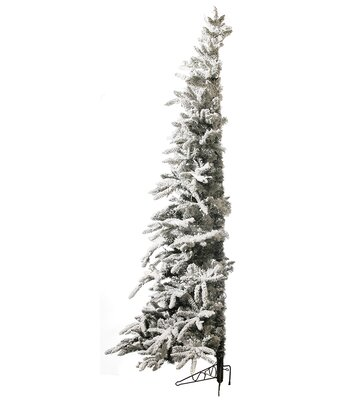 75 whitegreen half snow pine christmas tree with 350 clear lights - Half Christmas Tree