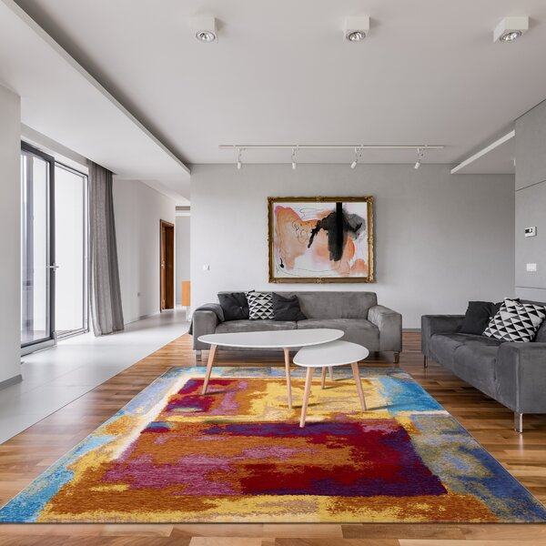 Red And Turquoise Area Rug | Wayfair