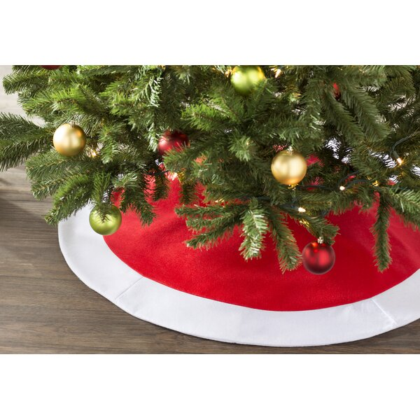 wayfair basics wayfair basics felt christmas tree skirt wayfair - Wayfair Christmas