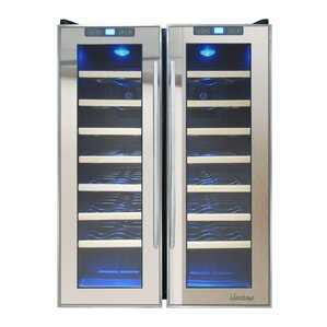 48 Bottle Dual Zone Freestanding Wine Cooler by Vinotemp