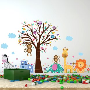 wall stickers for kids rh wayfair com Tree Wall Decals for Living Room Wall Decals for Boys Room