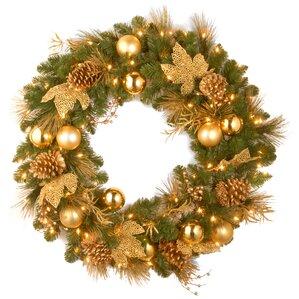 Artificial Christmas Wreaths You'll Love Wayfair - Christmas Wreath Lights