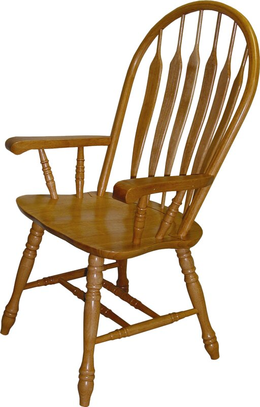 Malaysian Oak Windsor Back Solid Wood Dining Chair
