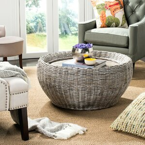 Rattan Wicker Round Coffee Tables Youll Love Wayfair