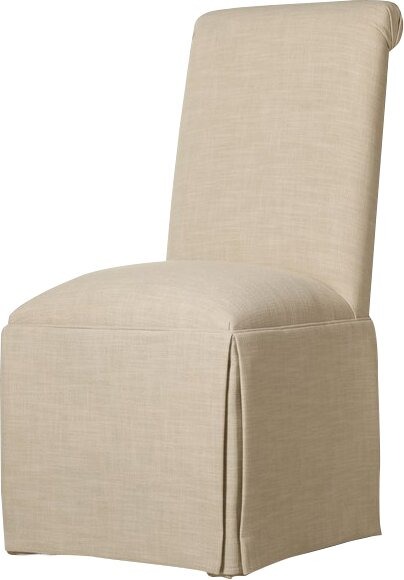 Weare Solid Back Skirted Upholstered Dining Chair Reviews Birch Lane
