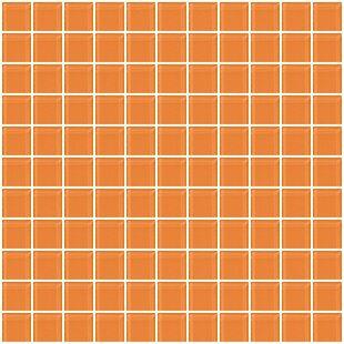 1 X Gl Mosaic Tile In Apricot Orange