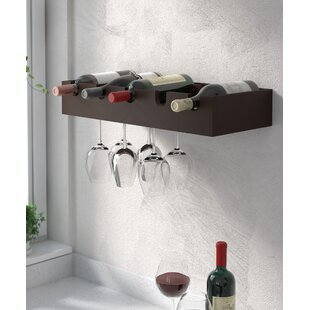 Cheever 5 Bottle Wall Mounted Wine Rack Best #1