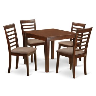 Cobleskill Microfiber Upholstery 5 Piece Dining Set