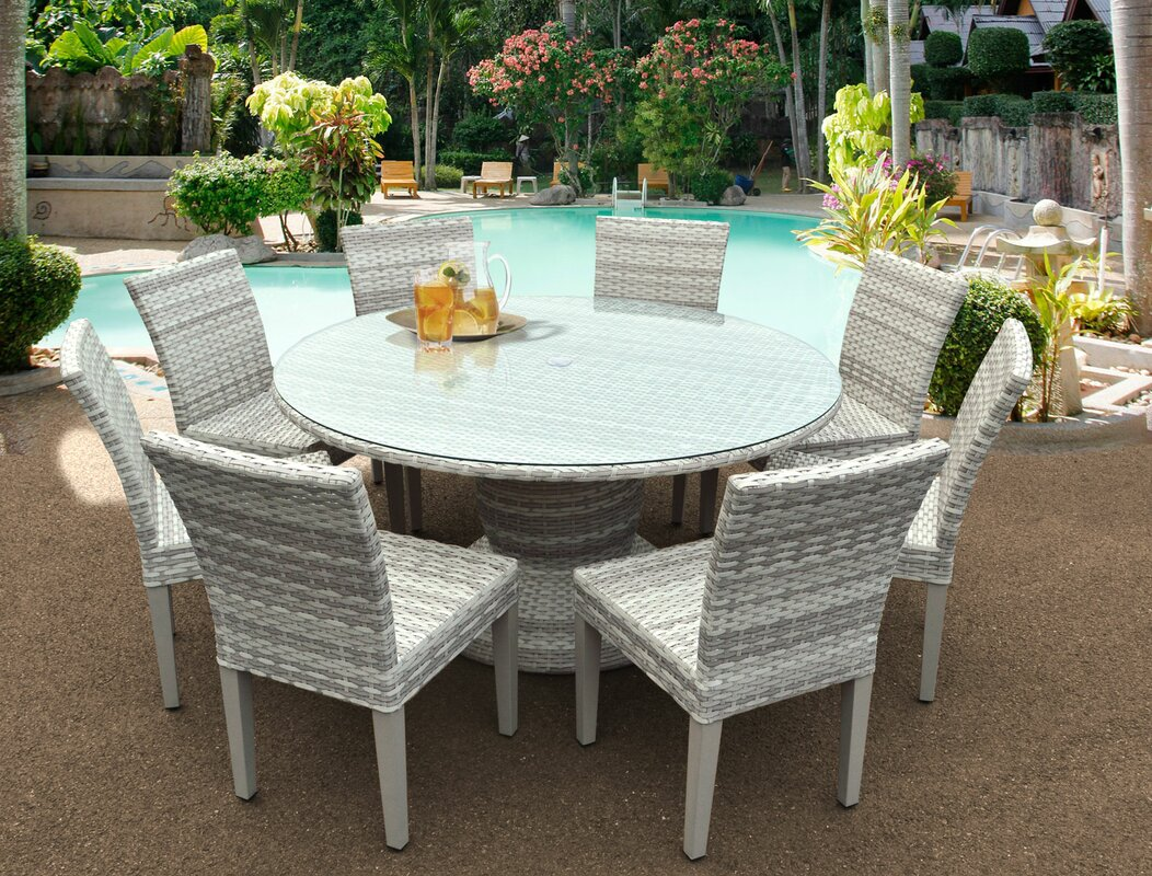 Ansonia 9 Piece Outdoor Dining Set