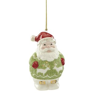christmas sweater santa hanging figurine ornament by lenox - Lenox Christmas Decorations