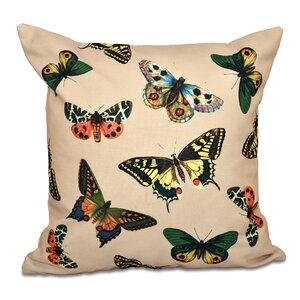 Swan Valley Butterflies Animal Print Throw Pillow