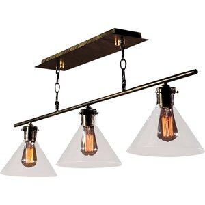 Amerie Edison 3-Light Kitchen Island Pendant