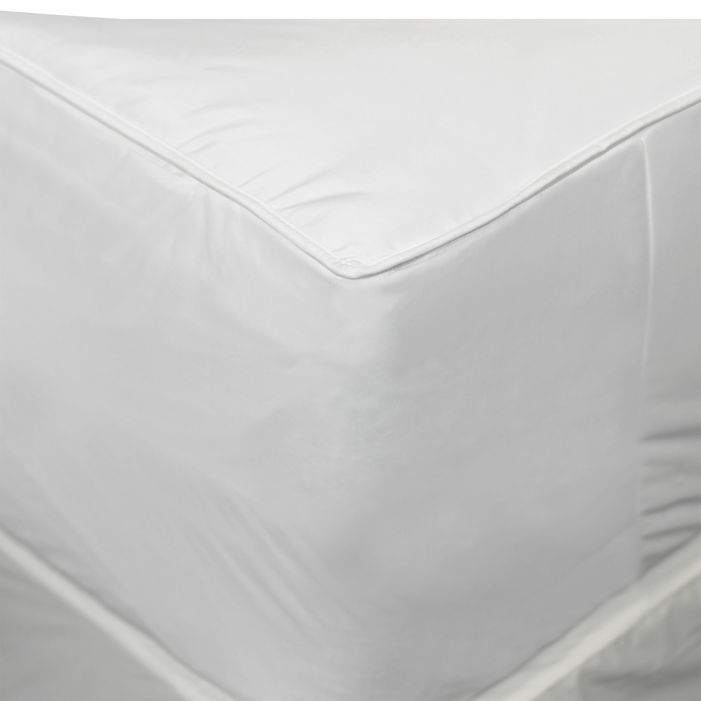 allerease waterproof zippered vinyl mattress antimicrobial bed ultimate protector comfort bug and protection pin