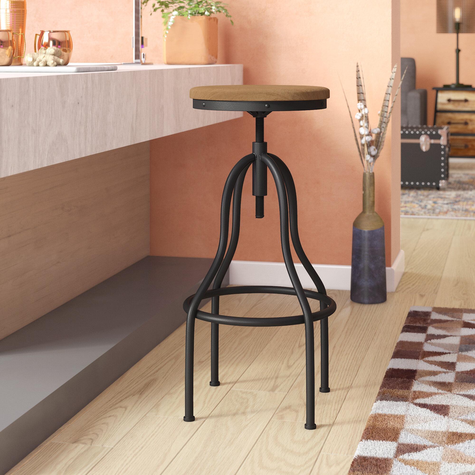 Beau Trent Austin Design South Lake Tahoe Adjustable Height Swivel Bar Stool U0026  Reviews   Wayfair