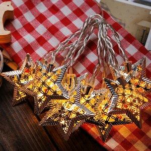 10-Light 5.5 ft. Star String Lights