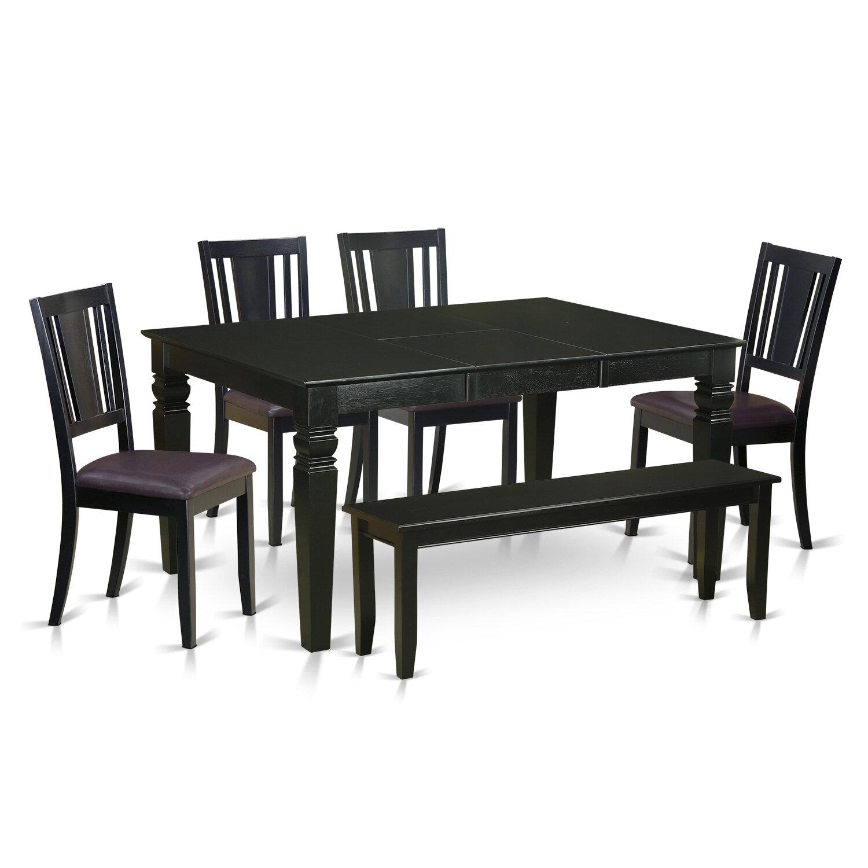 Fine Weston 6 Piece Dining Set Beatyapartments Chair Design Images Beatyapartmentscom