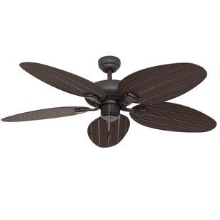 Ceiling Fans With Leaf Blades Palm leaf ceiling fan wayfair audiocablefo