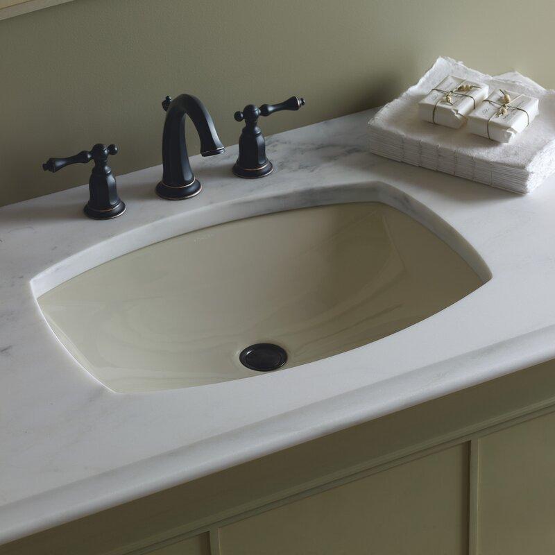 undermount bathroom sink. Kelston® Ceramic Rectangular Undermount Bathroom Sink With Overflow T