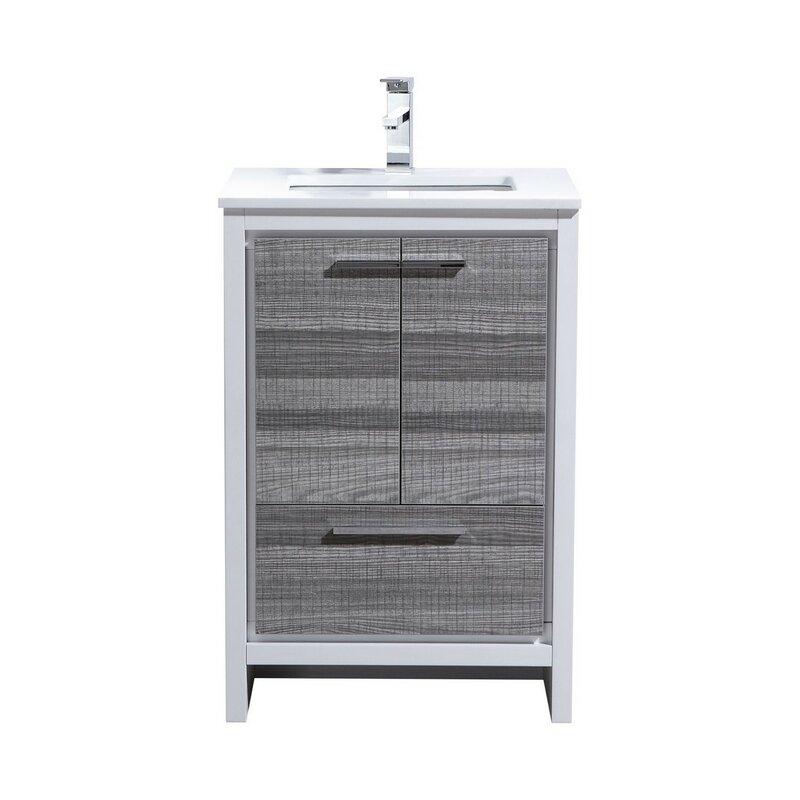 Mercury Row Bosley Modern Bathroom Vanity Reviews Wayfair - 24 contemporary bathroom vanity