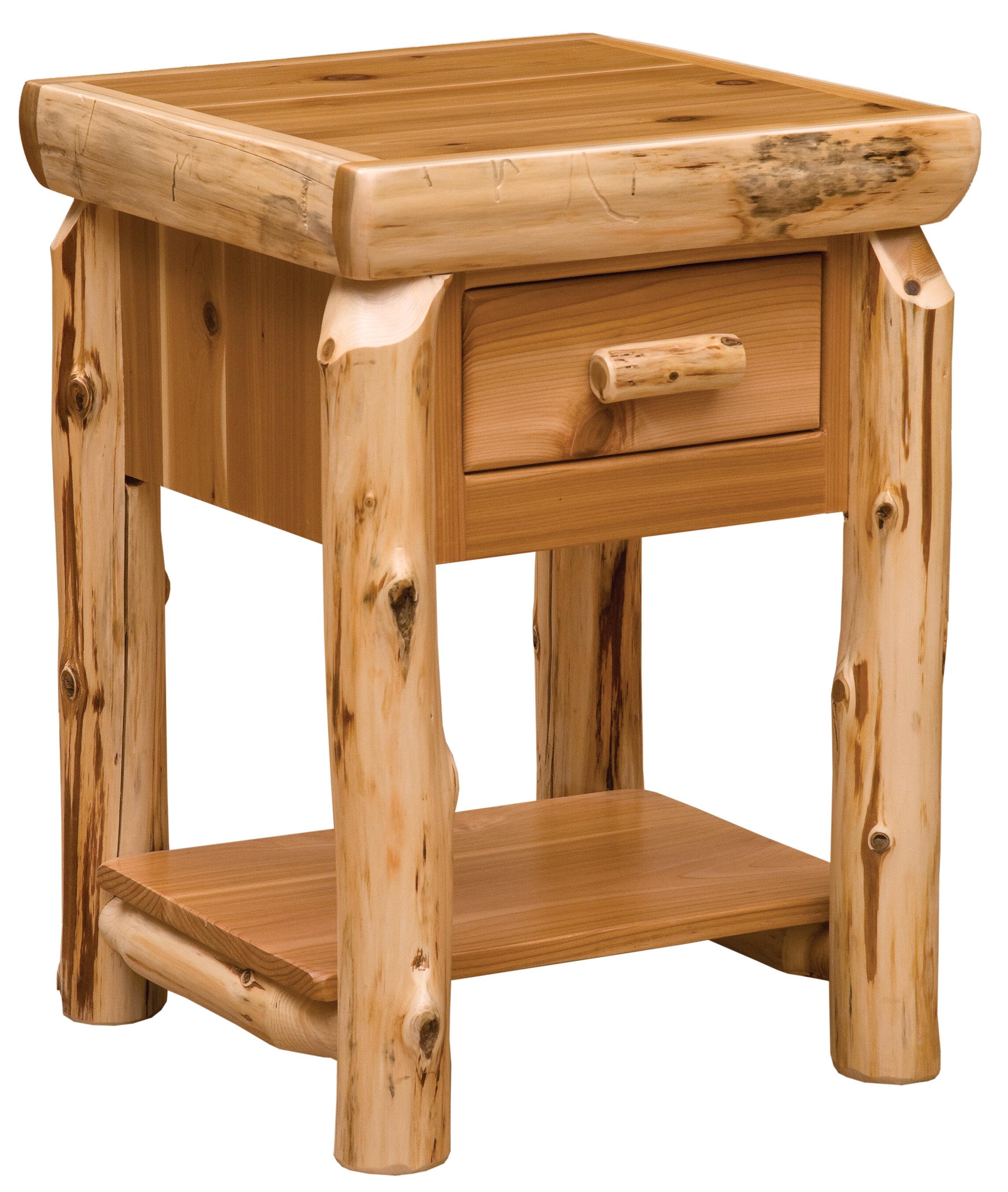 Superieur Fireside Lodge Cedar End Table | Wayfair