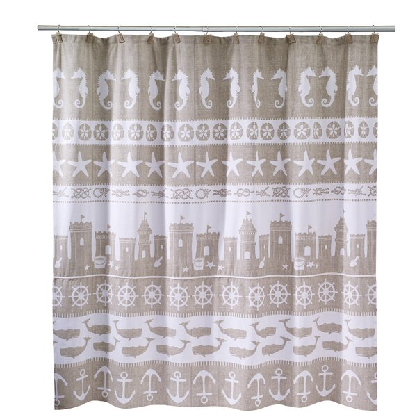Avanti Linens Sea And Sand Shower Curtain