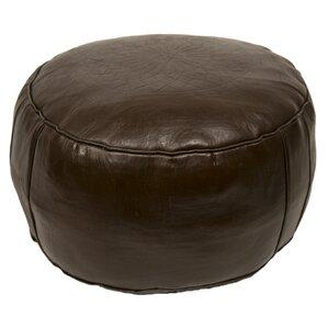 Seth Leather Ottoman by Mistana