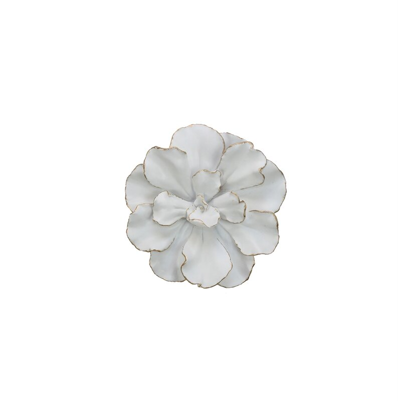 White Gold Flower Wall Décor