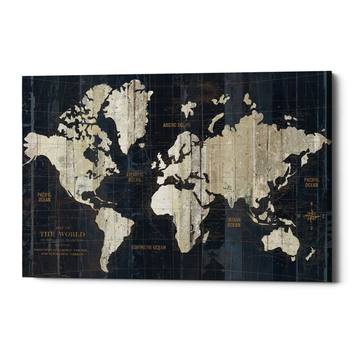 Williston forge old world map graphic art print on canvas wayfair old world map graphic art print on canvas gumiabroncs Images